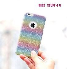 GLITTER SPARKLY BACK Fits IPhone Soft Bling Shock Proof Silicone Case Cover b7