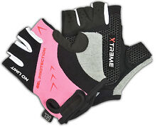 CYCLING CYCLE BIKE RIDING HALF FINGER GEL FOAM PALM PADDED GLOVES OUTDOOR MITTS