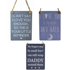 Mini metal sign perfect gift for dad / father Love you to the moon daddy signs