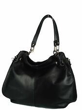 borsa donna in vera pelle made in italy nuova bag leather tracolla catena lampo