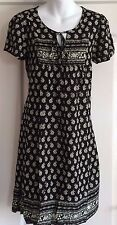 NEW~JOJO MAMAN BEBE~MATERNITY BLACK FLORAL PRINT DRESS 10