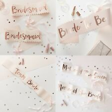 BRIDE TO BE SASH / TEAM BRIDE / BRIDESMAID SASHES HEN PARTY ACCESSORIES FAVOURS