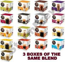 3 BOXES OF NESCAFE DOLCE GUSTO COFFEE, CHOC, LATTE, CAPPUCCINO, CAPSULES PODS