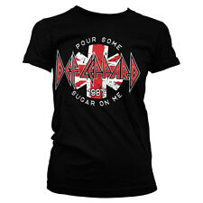 Officially Licensed Def Leppard- Pour Some Sugar On Me Women T-Shirt S-XXL Sizes