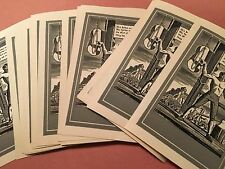 Norman Rockwell 26 Vintage Book Plates (Identical) in Original Box The Hangman!