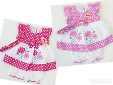 Baby C Girls Pink Floral Polka Dot Dress Bloomers Hairband Outfit 0-3 6-9 Months