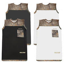 Men's Forest Camo Cap Sleeve Vest Camouflage Combat Army Military Fishing S-2XL