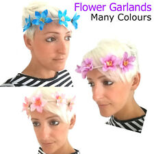 Flower Garland Childrens Brow Band Floral Hair Accessory Bandeaux Fabric Fashion