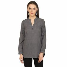 VS FASHION Women's Casual Wear Grey Poly Cotton Full Sleeve Top (VS-088)