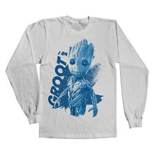 Officially Licensed Guardians of The Galaxy- I Am Groot Long Sleeve Tee (S-XXL)