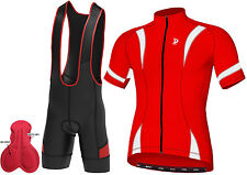Mens Cycling Half Sleeve Jersey Top Racing Biking Top + Bib shorts Cycling Pant