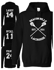 Beacon Hills Lacrosse Hoodie Teen Wolf Stilinski,McCall All team BLACK COLOR..