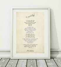 347 Stereophonics - Maybe Tomorrow - Song Lyric Art Poster Print - Sizes A4 A3