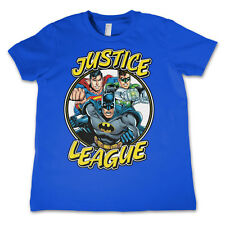 Officially Licensed Justice League Team Kids T-Shirt Age 3-12 Years