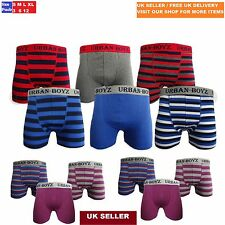 6 Pairs Men Cotton Boxer Shorts Striped Trunks Briefs Designer Underwear For Him