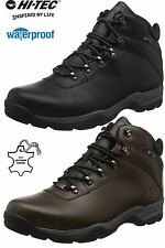 Mens Hi Tec Leather Walking Hiking Waterproof Ankle Boots Trainers Shoes Size