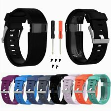 New Polsiera Cinturino in Silicone Band Bracelet per Fitbit Charge HR Tracker#BK