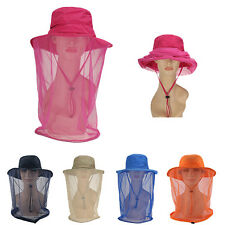 Mosquito Resistance Bug Mesh Head Net Face Protector Cap Sun Hat Fishing Camping