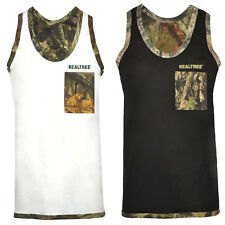 0046014cc4b18 Men s Jungle Print Camouflage Muscle Vest Tank Top Realtree Hunting Fishing  Top