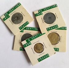 France 5 & 10 Centimes Coin - 1941 - 1968 - In Sleeves