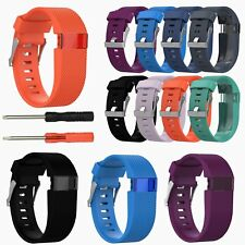 Replacement Silicone Watch Band Strap Wristband for Fitbit Charge HR Tracker L/S