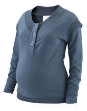 NORDICMAMA NAVY OR GREY MARL MATERNITY JUMPER LOUNGE TOP SIZE 8 10 12 14 16  NEW