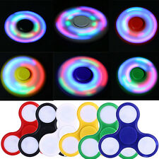 LED Light Flash Fidget Hand Finger Spinner Ultimate Spin Toys Gyro Gifts UK