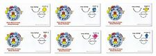 2016 Mr Men and Little Miss - Personalised Smilers -  First Day Covers - FDC