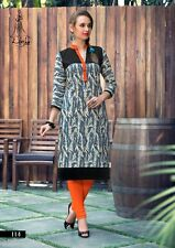 Ezsolve Selfie Style- Trendy Western Cotton with Printed Neck Work Kurti Party
