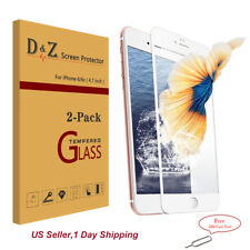 2x For iPhone 6s/6/7/8  Full Curved Screen Tempered Glass Edge to Edge Protector