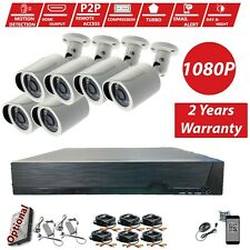 GoVision 8Channel 1080P HDMI CCTV DVR 2.4MP Outdoor Home Security Camera System