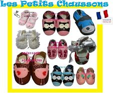 CHAUSSONS CHAUSSURES BEBE CUIR / TISSU / DENTELLE / CUIR PU /BABY SLIPPERS SHOES