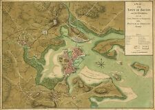 Poster Print Antique American Military Map Boston