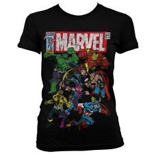 Officially Licensed Marvel Comics- Team-Up Women T-Shirt S-XXL Sizes