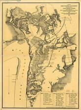 Poster Print Antique Lakes And Rivers Map Port Hudson