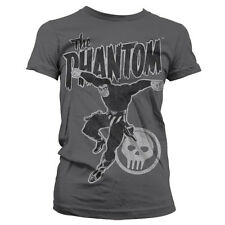 Officially Licensed The Phantom- Phantom Jump Distressed Women T-Shirt (S-XXL)