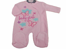 BNWT Tiny Baby Girls Butterfly Premature Preemie velour sleepsuit 3-5 or 5-8lb