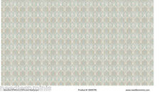 1:24 Scale Wallpaper Taupe and Blue/Green Damaskl - 3 Sheets - 0000785