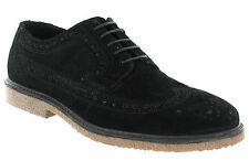 Red Tape Brogue Suede Black Shoes Lace Up Cushioned Orrin Shoes Black UK 7 - 11