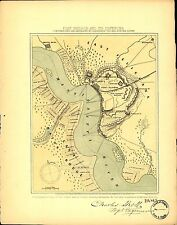 Poster Print Antique American Military Map Port Hudson