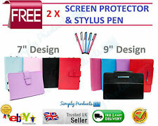 "Universal Folio Leather Flip Case Cover For Android Tablet PC 7"" 9"""