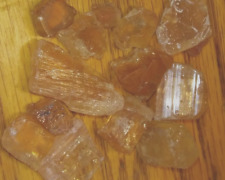3000 Carat Lot Natural Golden Imperial Topaz Rough for Cab or Facet Top Color