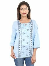 VS FASHION Women's Casual 3/4th Sleeve Embroidered Top (VS-100)