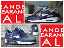 BNWT New Men Boys Nike Air Max 90 Leather Trainer Navy size 3 4 5 6