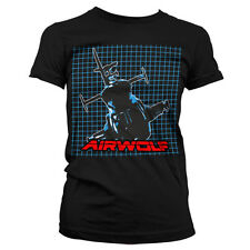 Officially Licensed Airwolf- Airwolf Pattern Women T-Shirt S-XXL Sizes