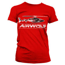Officially Licensed Airwolf- Airwolf Chopper Women T-Shirt S-XXL Sizes
