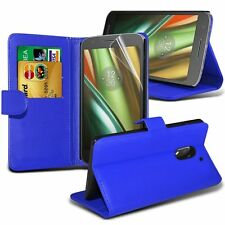 Leather Stand Wallet Case Cover With LCD Screen Protector For Sony Models