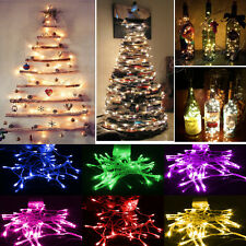 10/20/30/40/50/80 LED String Fairy Lights Battery Operated Xmas Party Room Decor