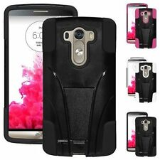 AMZER HYBRID CASE FOR LG G3 D855 DOUBLE LAYER COVER POUCH WITH KICKSTAND
