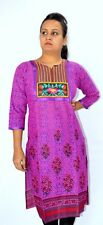 BPT -Trendy Cotton Printed Purple Color Elegant Designer Long Kurtis / Kurta